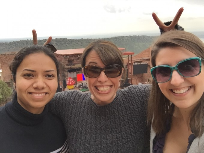Redrocks amphitheater with Shreyasi and Miranda- ARVO 2015